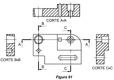 Dibujo tecnico cortes y secciones generalidades y tipos for Plano de planta dibujo tecnico